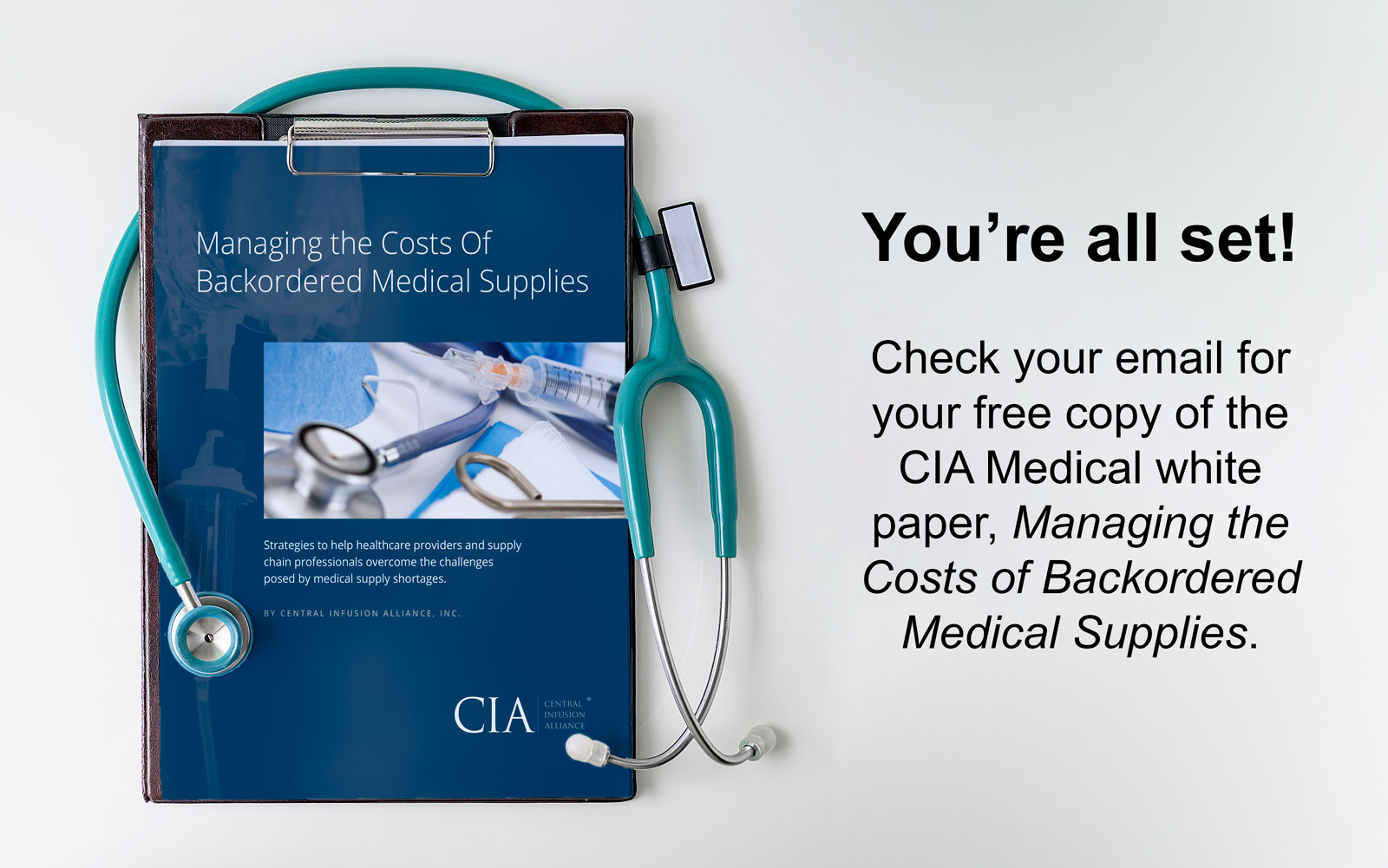 CIA Medical White paper confirmation
