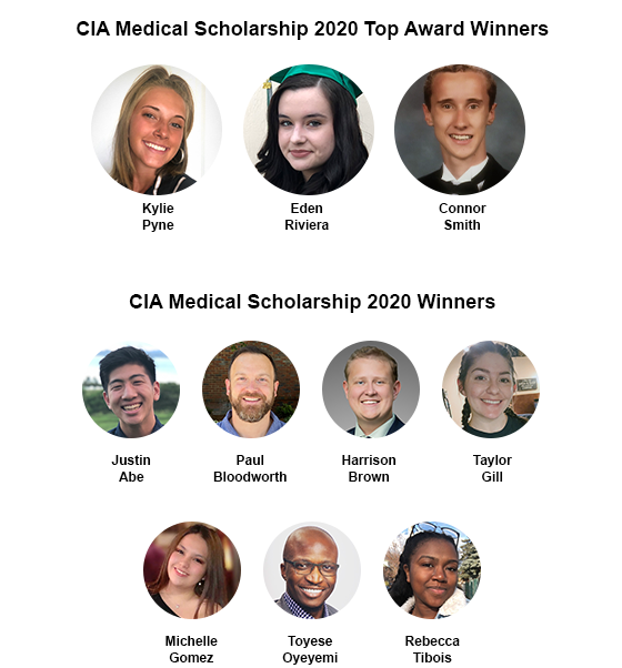 CIA Medical Healthcare Scholarship 2020 Winners