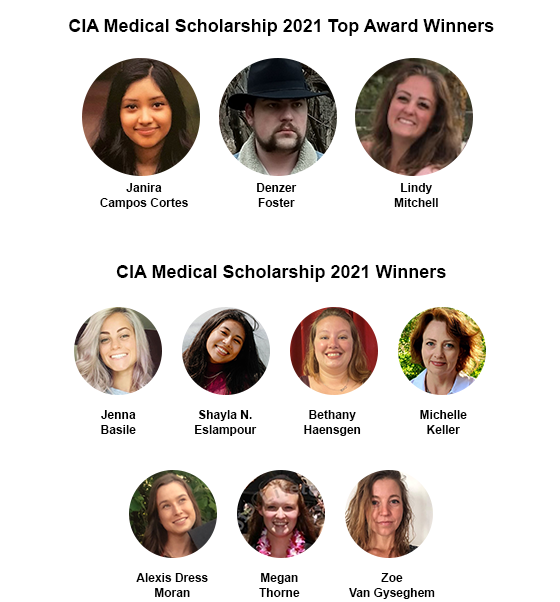 CIA Medical Healthcare Scholarship 2021 Winners